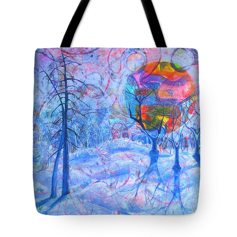 Winter Tote Bag featuring the painting Solstice by Rollin Kocsis