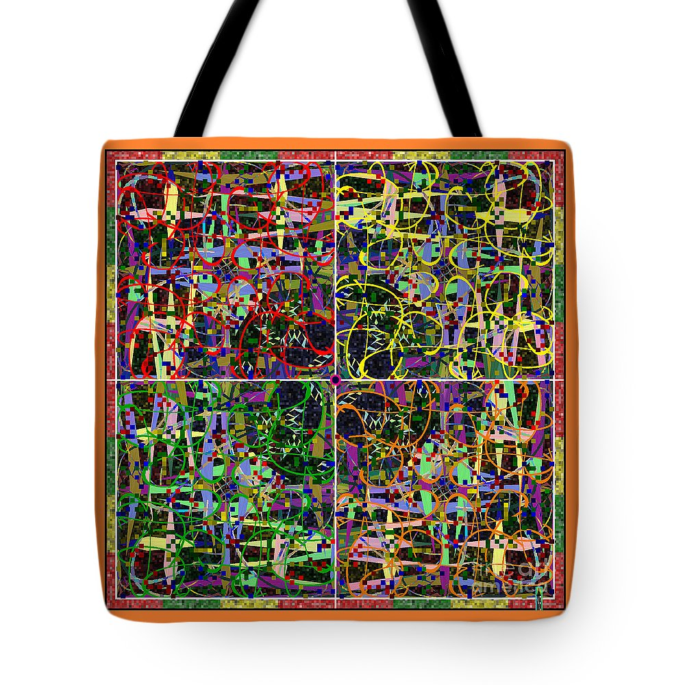 Mkatz Brandt Art Some Harmonies And Tones Some Symmetry Tote Bag featuring the digital art Some Harmonies And Tones 17 by MKatz Brandt
