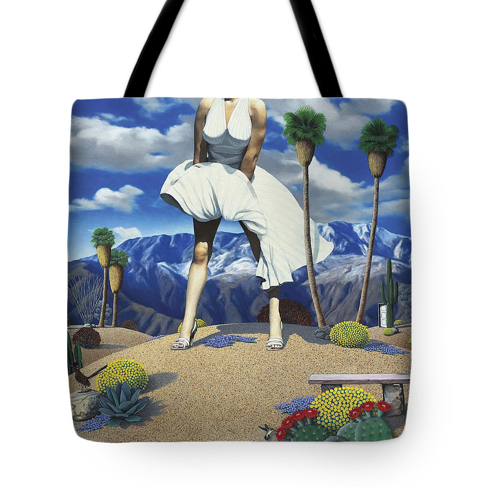 Marilyn Tote Bag featuring the painting Some Like it Hot by Snake Jagger