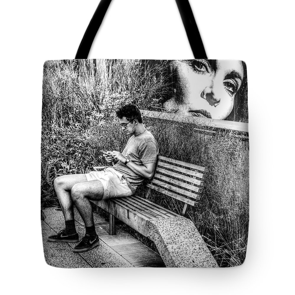 New York Tote Bag featuring the photograph Someone Is Always Watching by Jeff Watts