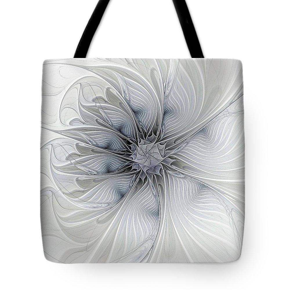 Digital Art Tote Bag featuring the digital art Something Blue by Amanda Moore