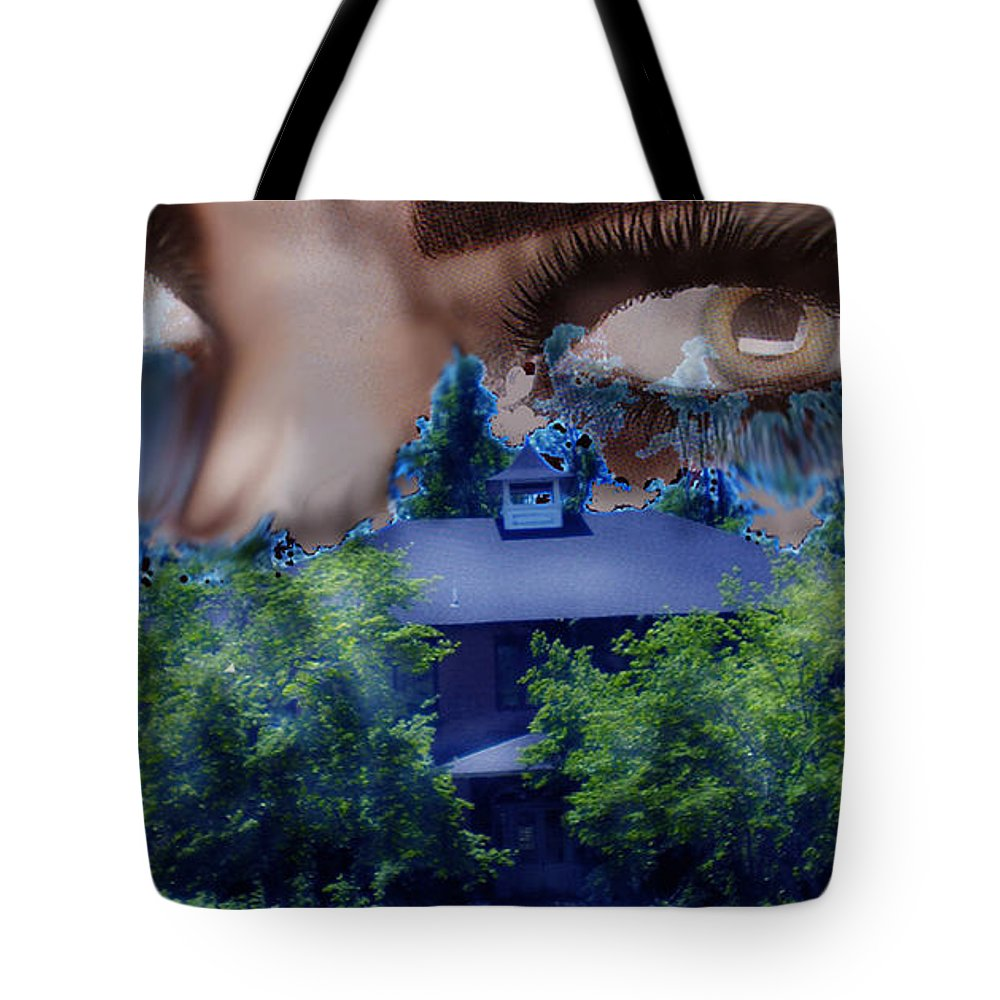 Strange House Tote Bag featuring the digital art Something To Watch Over Me by Seth Weaver