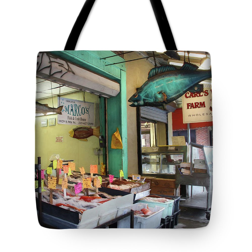 Fish Tote Bag featuring the photograph Something's Fishy by Lori Deiter