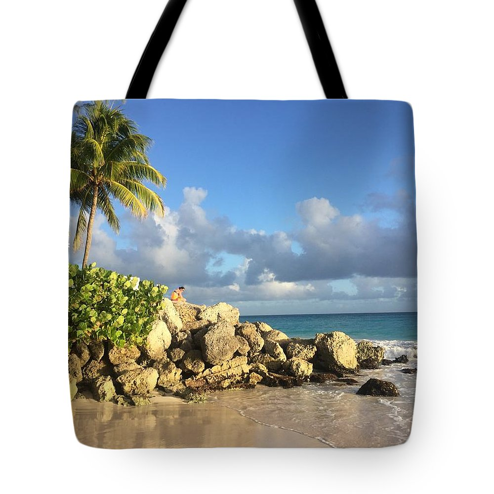 Caribbean Tote Bag featuring the photograph Somewhere in Barbados by Cindy Ross