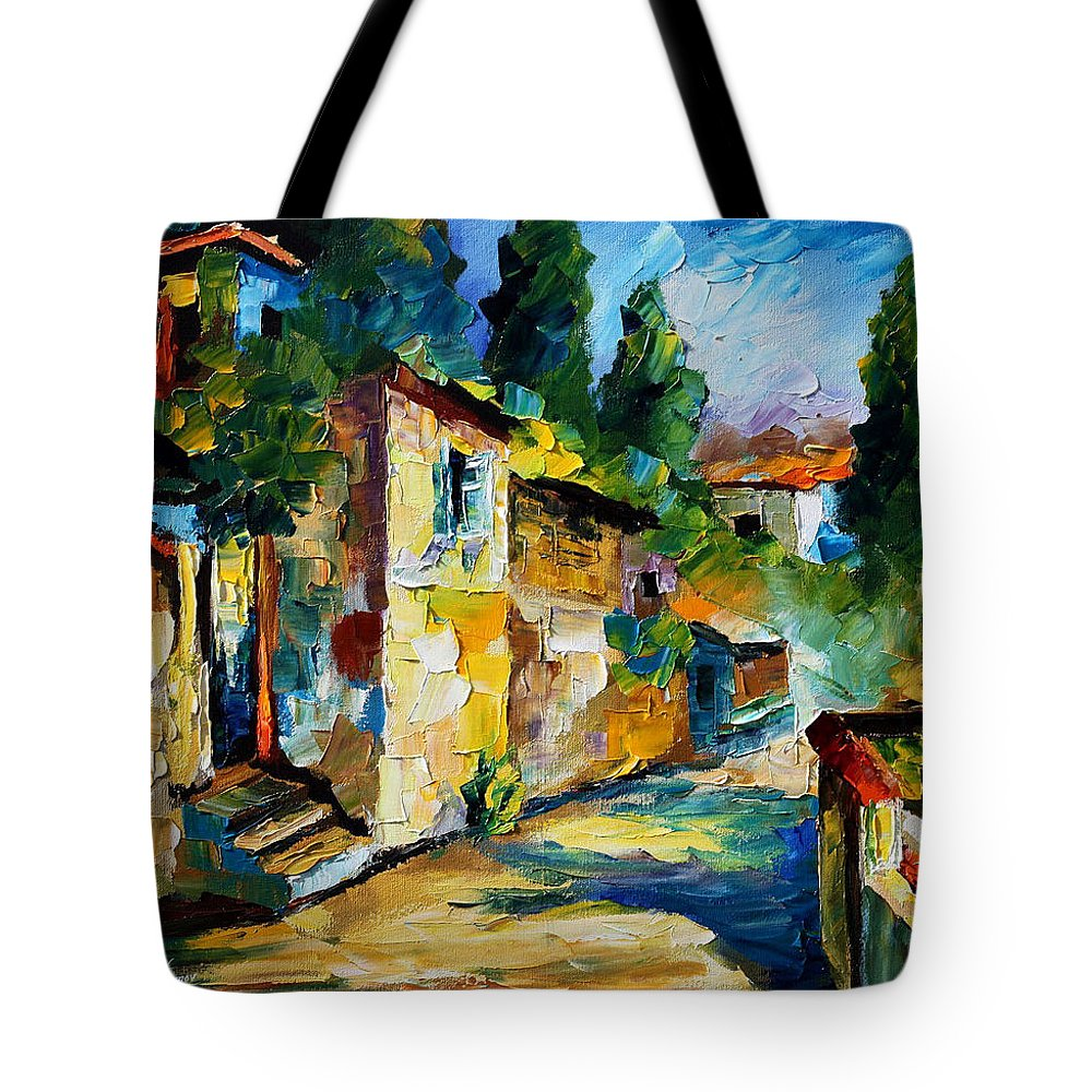City Tote Bag featuring the painting somewhere in Israel by Leonid Afremov