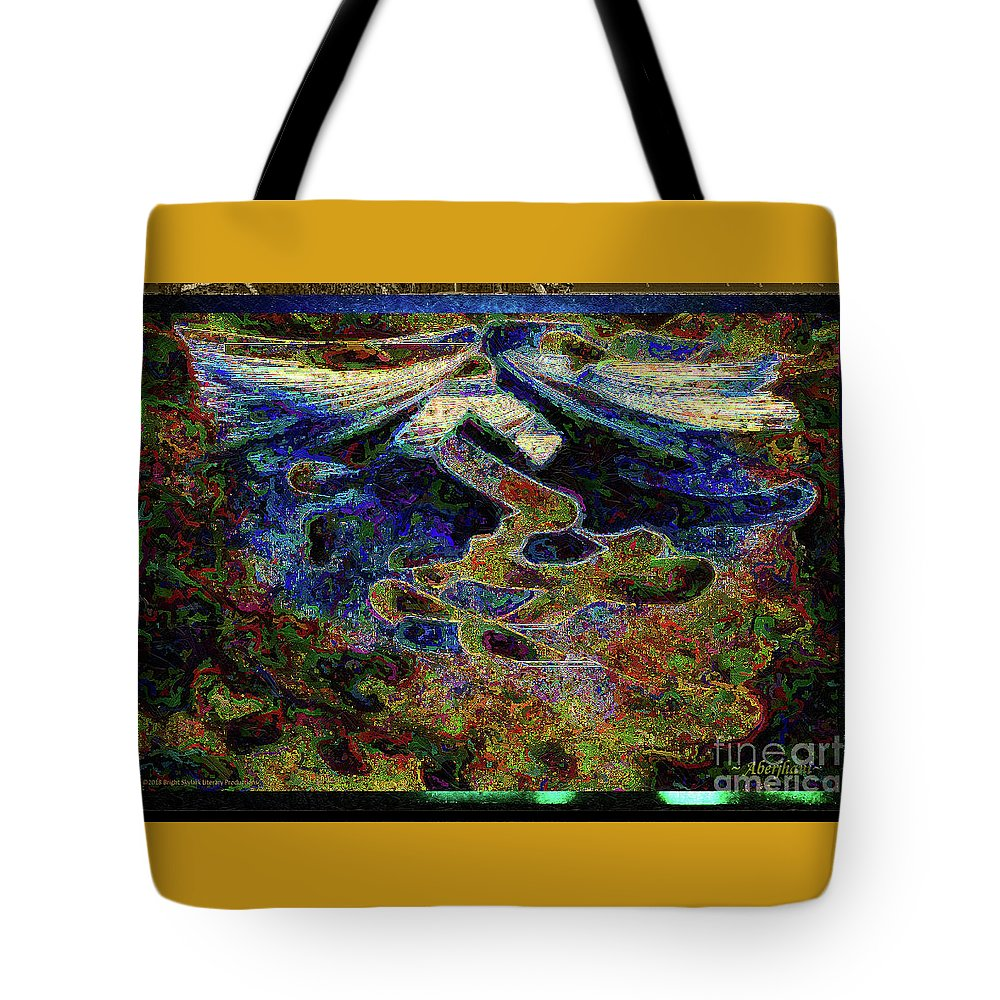 Chromatic Poetics Tote Bag featuring the digital art Song Of Love And Compassion by Aberjhani