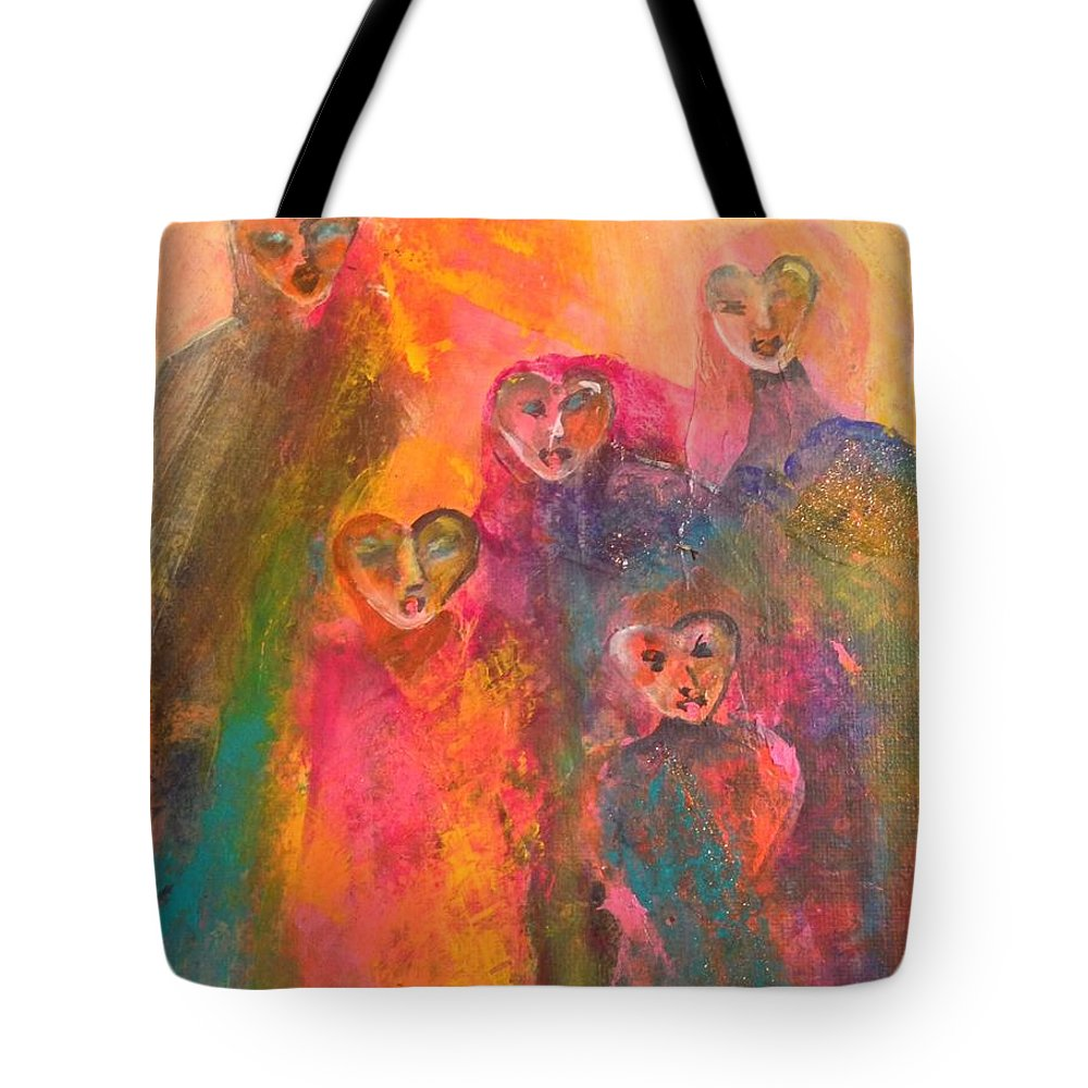 Figurative Art Tote Bag featuring the painting Song Of Our Heart by Terri Davis