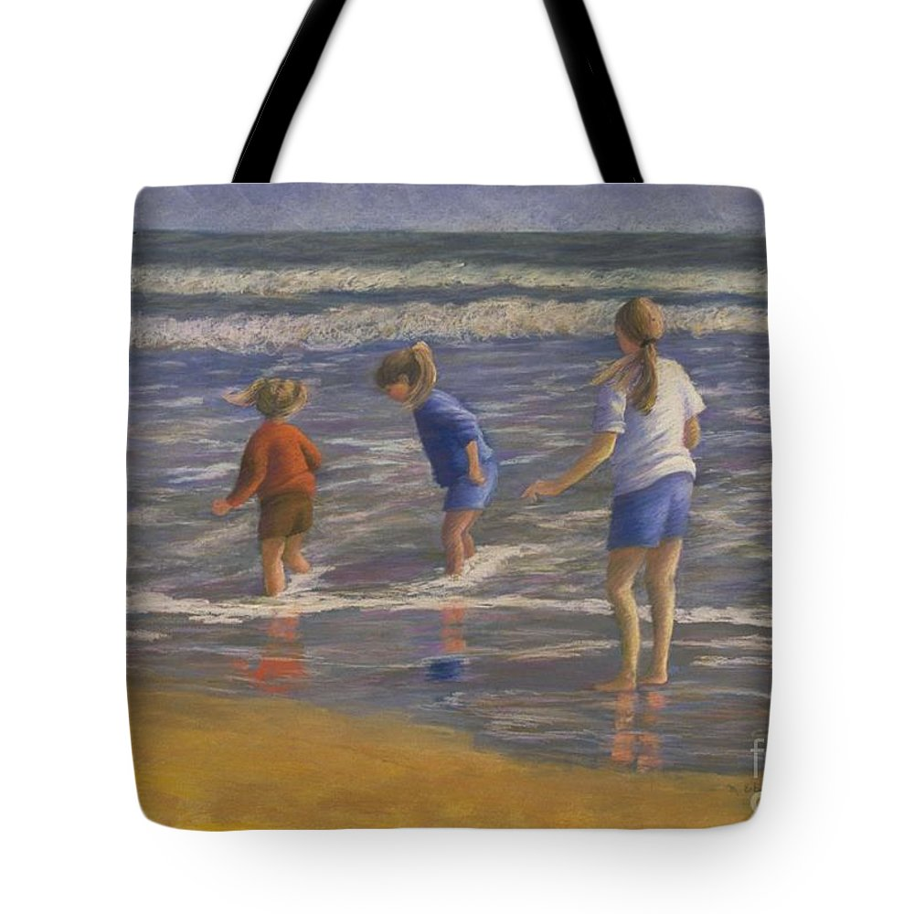 Beach Tote Bag featuring the painting Song Of Praise by Mary Erbert