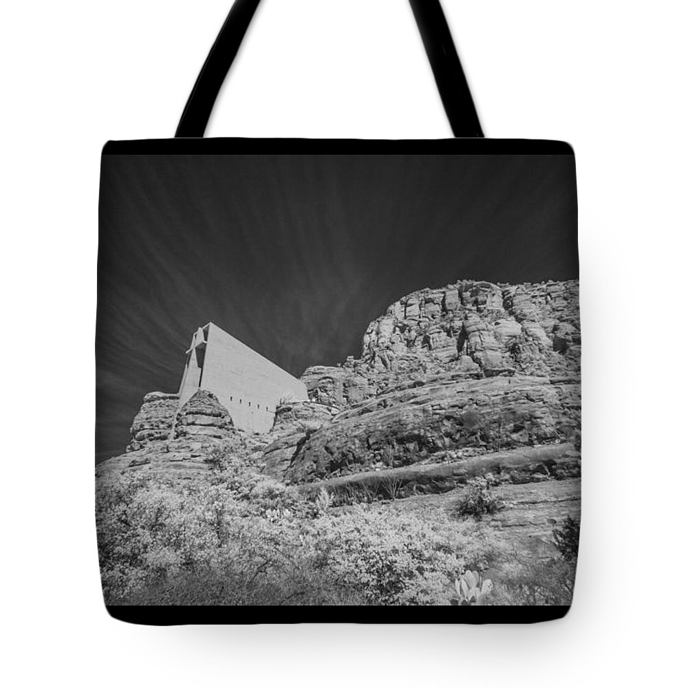 Infrared Tote Bag featuring the photograph Sonoma Church 1 by AE Samaan