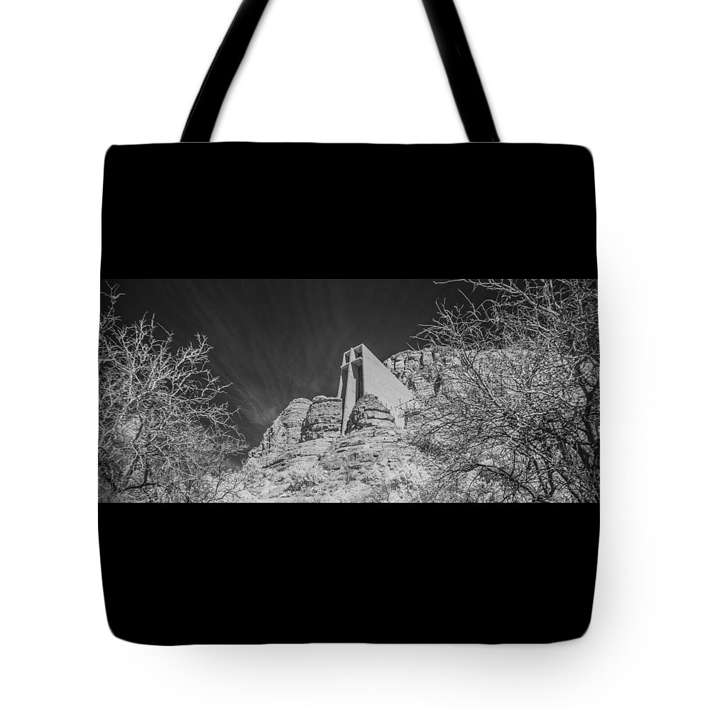 Arizona Tote Bag featuring the photograph Sonoma Church - 2 by AE Samaan