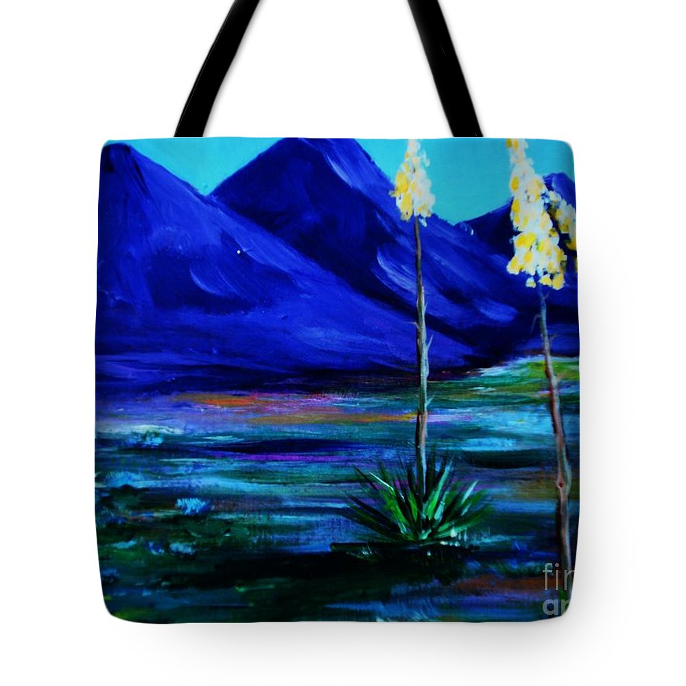 Desert Tote Bag featuring the painting Sonora by Melinda Etzold