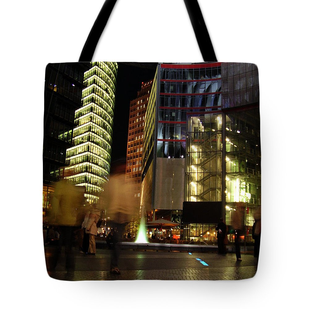 Sony Center Tote Bag featuring the photograph Sony Center by Flavia Westerwelle