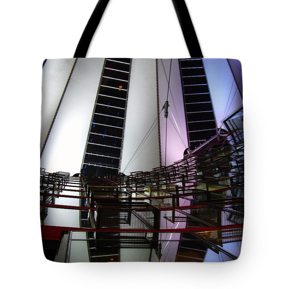 Sony Center Tote Bag featuring the photograph Sony Center II by Flavia Westerwelle