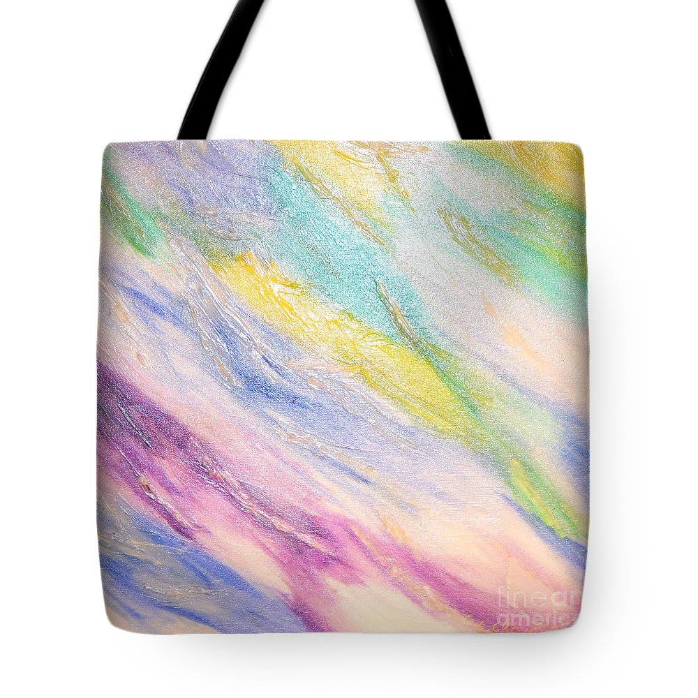 Abstract Tote Bag featuring the painting Soothing by Lori Jacobus-Crawford