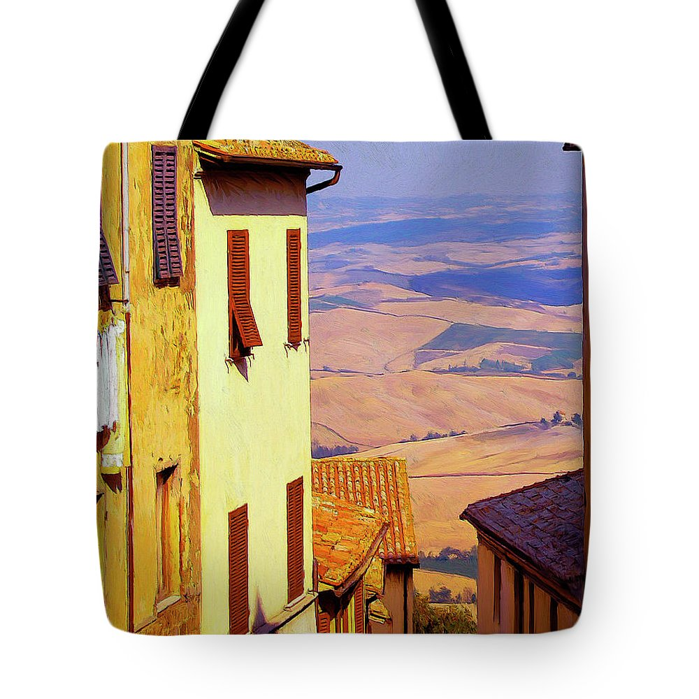 Italy Tote Bag featuring the painting Sopratutto by Dominic Piperata
