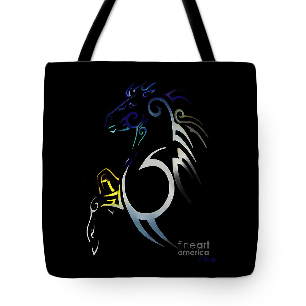 Tribal Tote Bag featuring the digital art Soquili by September Stone