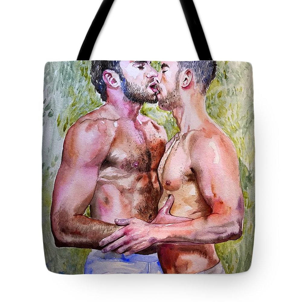Love Tote Bag featuring the painting Soul Mates by Suzann Sines