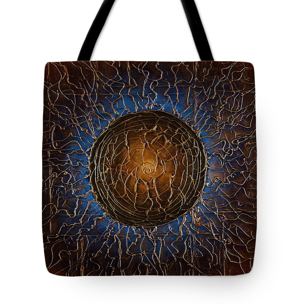 Abstract Tote Bag featuring the painting Soul by Michael Lang