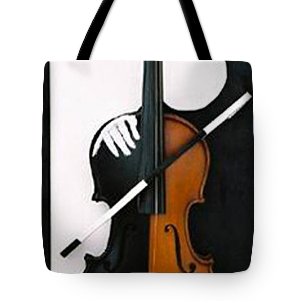 Violin Tote Bag featuring the sculpture Soul Of Music by Steve Karol