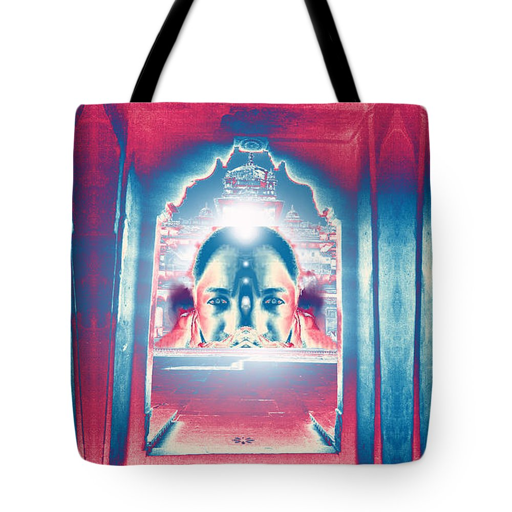 Soul Tote Bag featuring the digital art Soul Search - Part 2 -search For Truth by Rupali Sharma