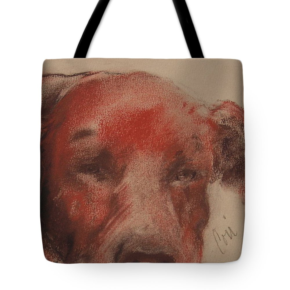 Pastel Tote Bag featuring the drawing Soul Searcher by Cori Solomon