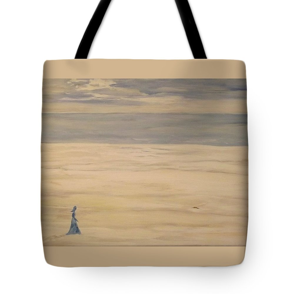 Landscape Tote Bag featuring the painting Soul Searching by Denise Morgan