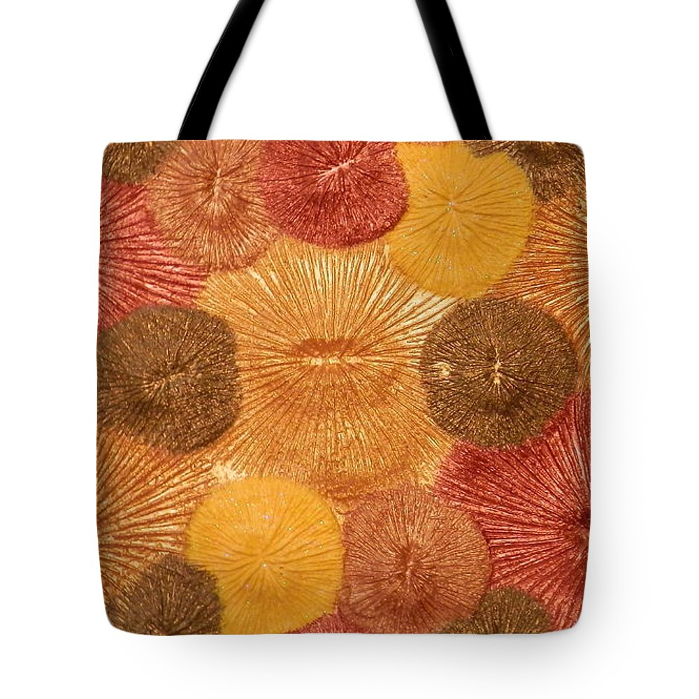 Abstract Tote Bag featuring the mixed media Soul Sparks by Teresa St George