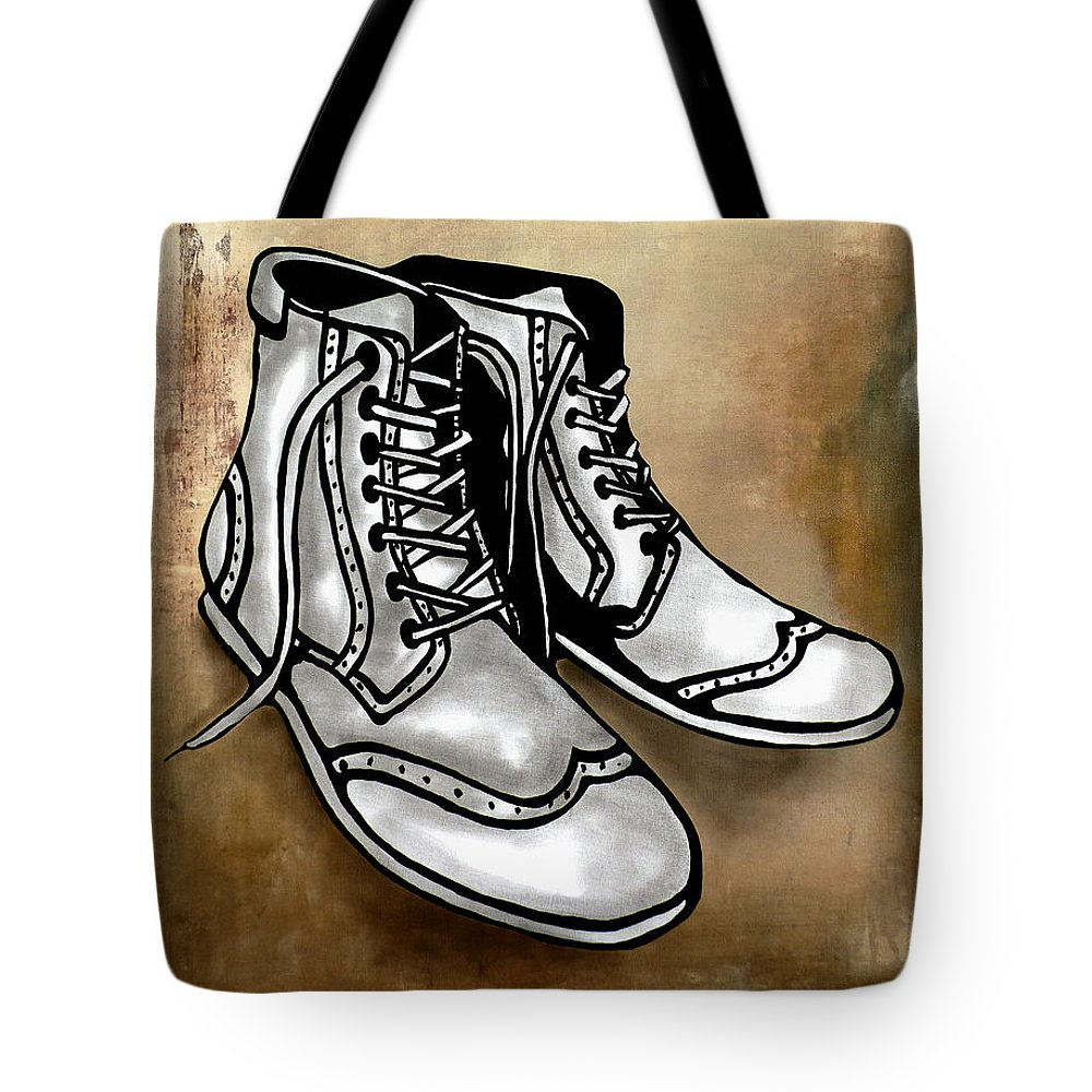 Fidostudio Tote Bag featuring the painting Soul by Tom Fedro - Fidostudio