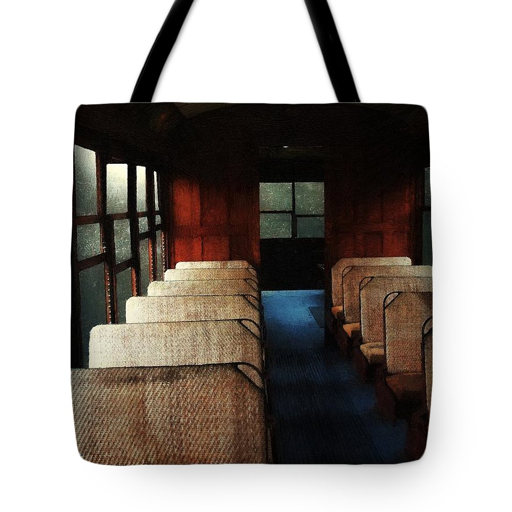 Train Tote Bag featuring the painting Soul Train by RC DeWinter