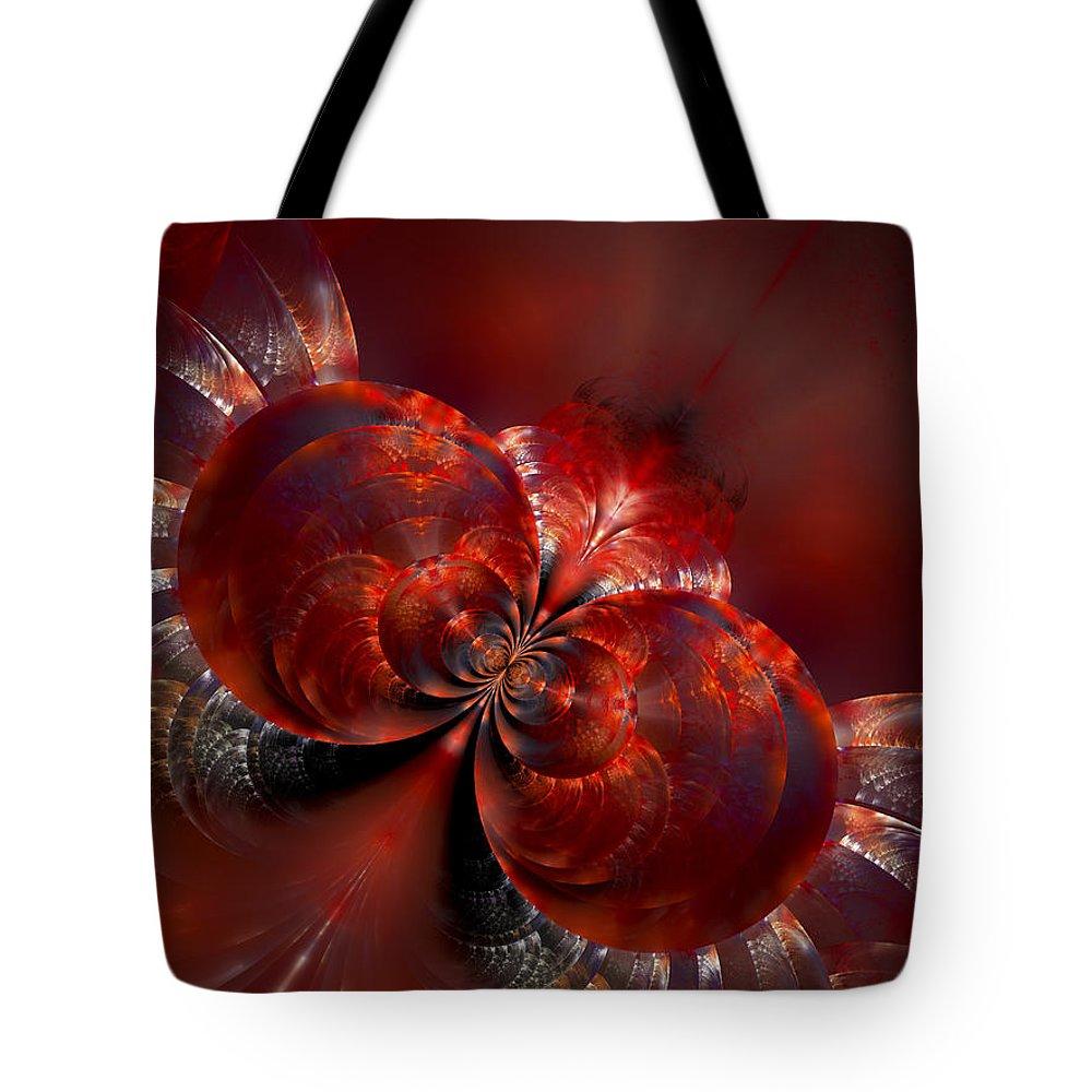 Fractal Tote Bag featuring the digital art Souls In Flight by Amorina Ashton