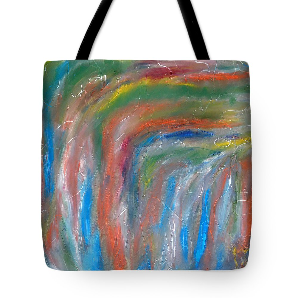 Apache Tote Bag featuring the painting Souls Of Castle Rock by Donny Anderson