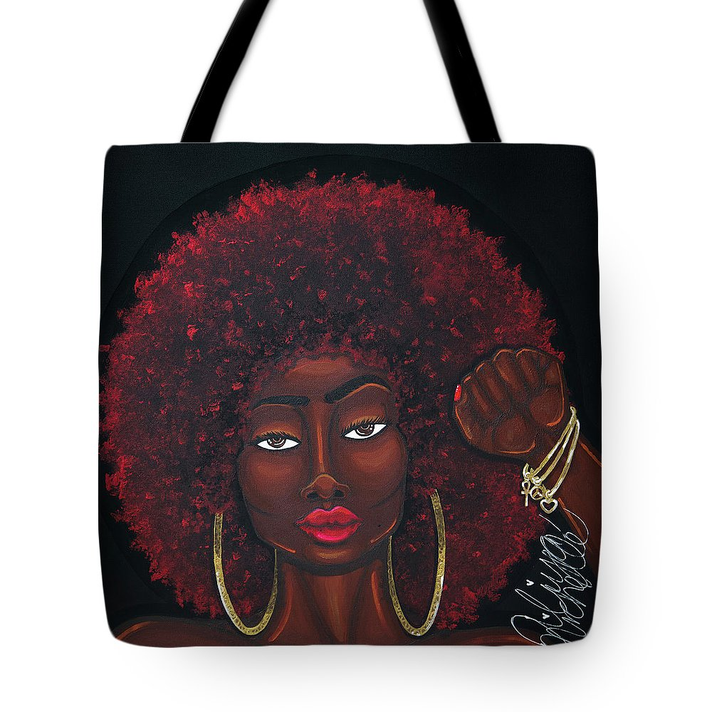 Aliya Michelle Tote Bag featuring the painting Soul Sista by Aliya Michelle