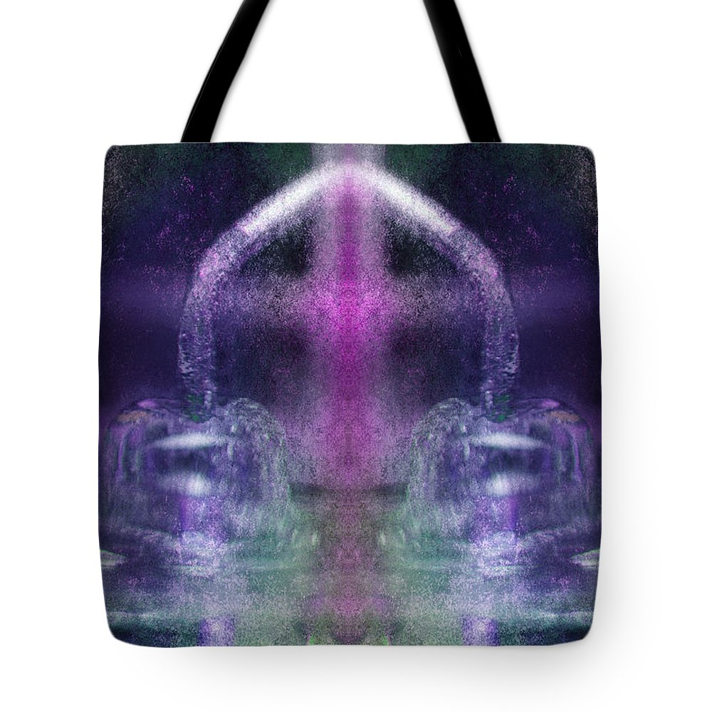 Vacuum Tube Tote Bag featuring the digital art Sound Technology 10 by WB Johnston
