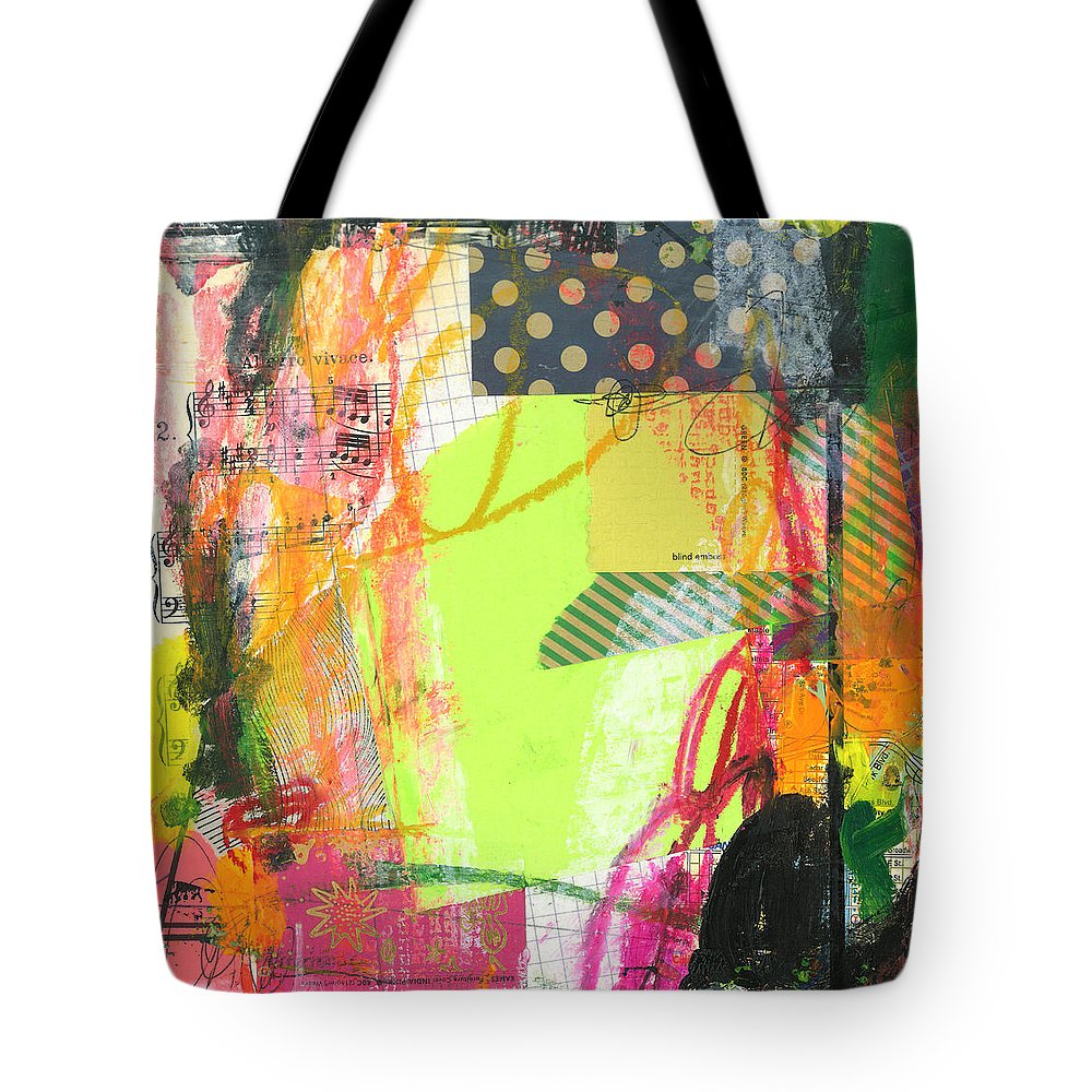 Paint Tote Bag featuring the painting Sound Waves by Katie Gebely