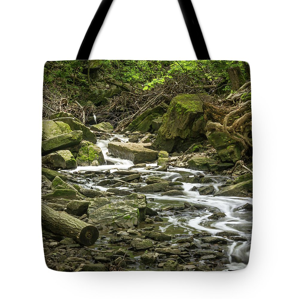 Landscape Tote Bag featuring the photograph Sounds Of A Mountain Stream by Robert Alsop