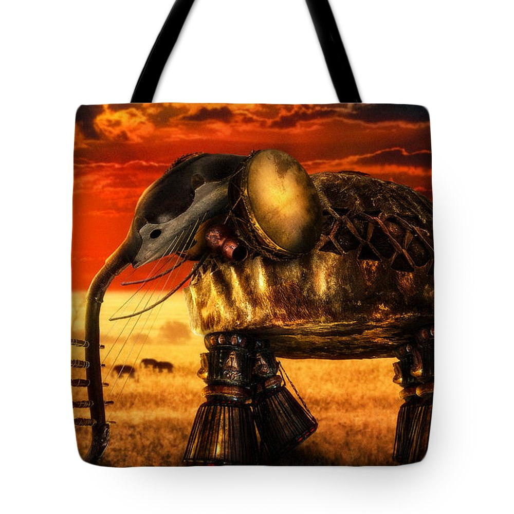 Music Tote Bag featuring the digital art Sounds Of Cultures by Alessandro Della Pietra