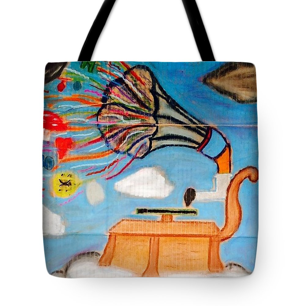 Tote Bag featuring the pastel Soundtrack 2 My Life by Peter Petunia