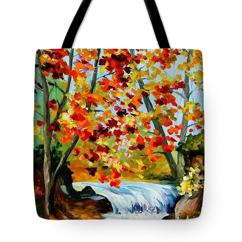 Afremov Tote Bag featuring the painting Source by Leonid Afremov