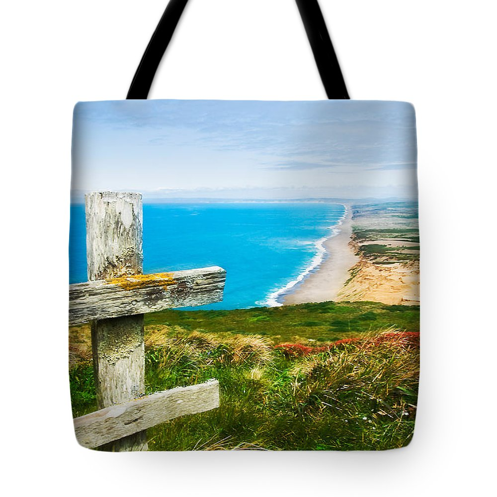Point Reyes Tote Bag featuring the photograph South Beach At Point Reyes by Mick Burkey
