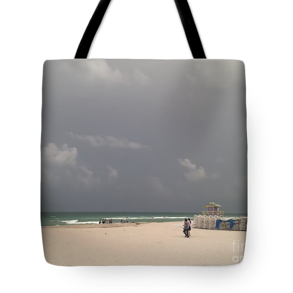 Landscape Tote Bag featuring the photograph South Beach, Miami, Fl by Jose Benegas