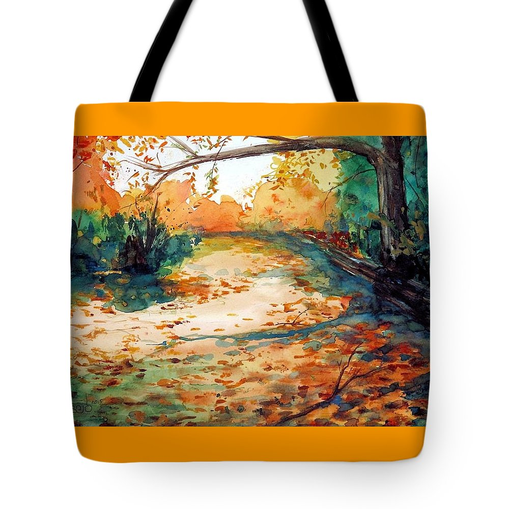 Autumn Tote Bag featuring the painting South Field by Don Seib