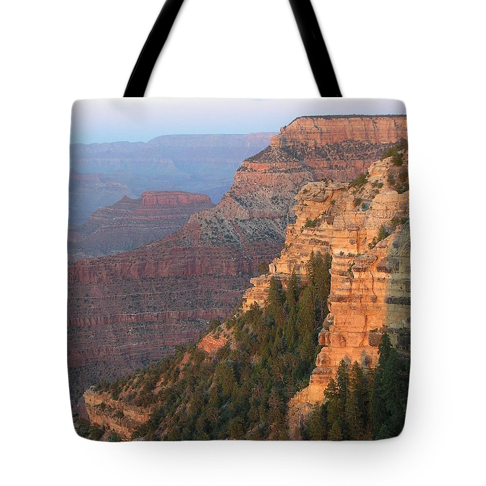 Sunset Tote Bag featuring the photograph South Rim Sunset by Louise Magno