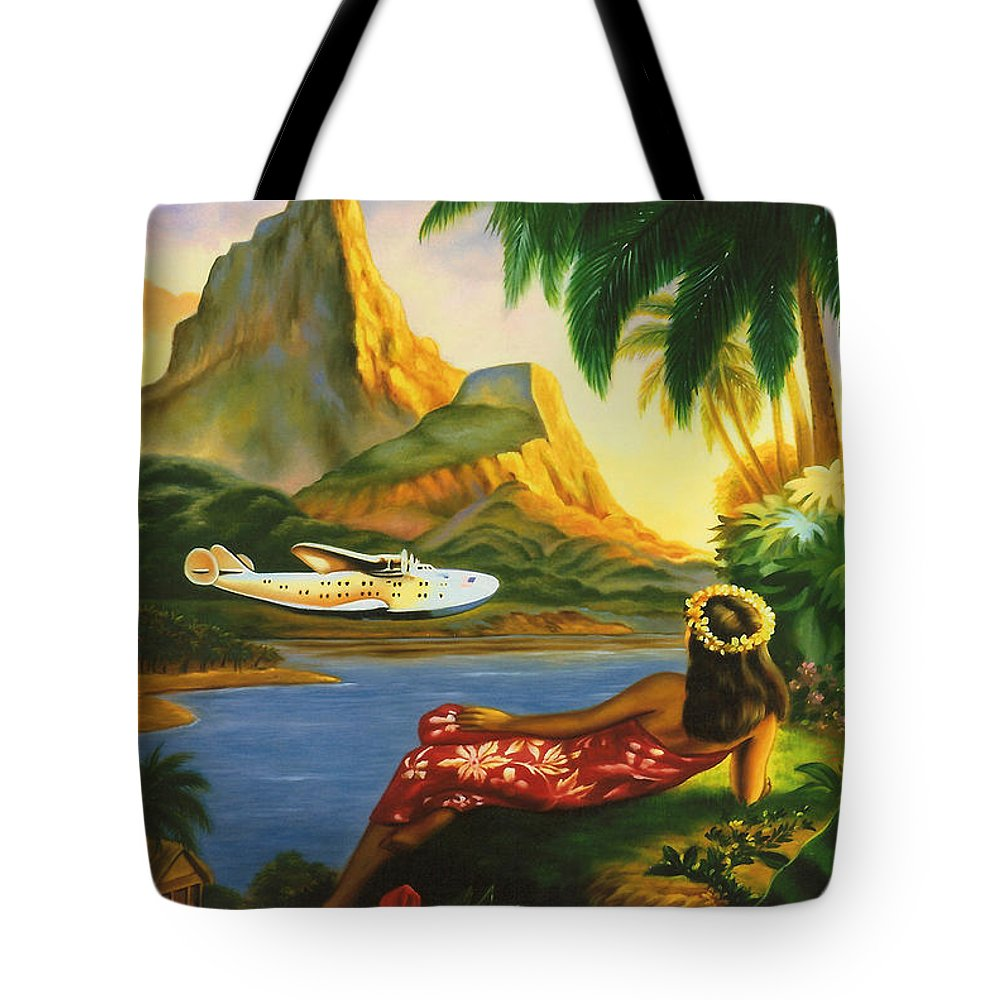 Background Tote Bag featuring the digital art South Sea Isles by Georgia Fowler