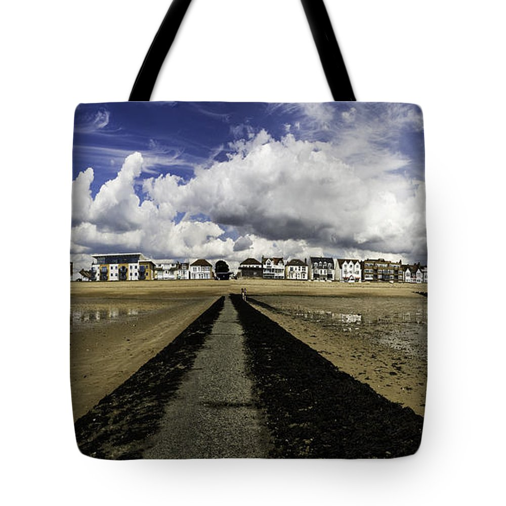 Southend On Sea Tote Bag featuring the photograph Southend On Sea Panorama by Sheila Smart Fine Art Photography