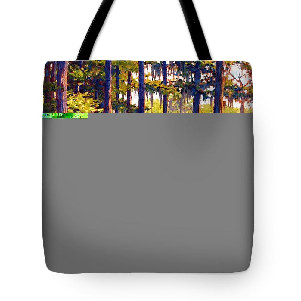 Marshes; Egrets; Low Country; Palmetto Trees Tote Bag featuring the painting Southern Breeze by Ben Kiger