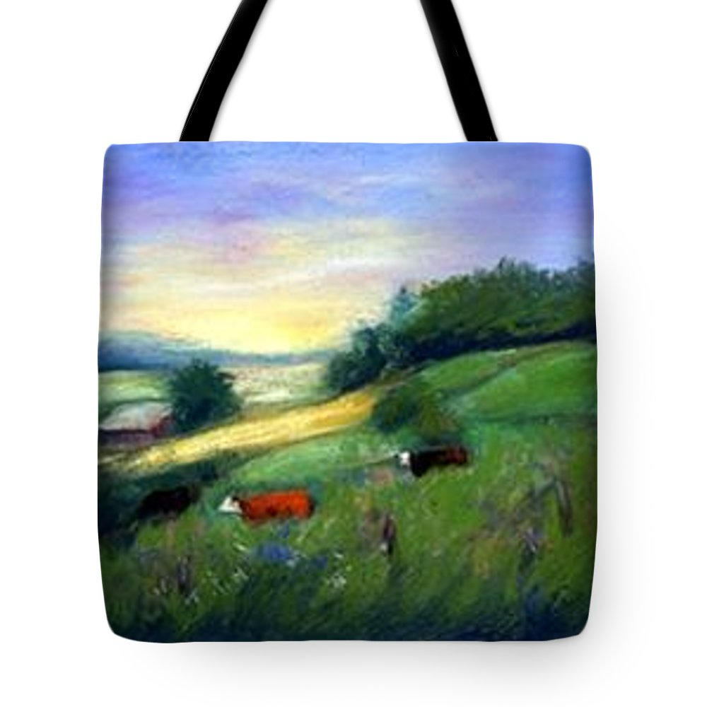 Landscape Tote Bag featuring the painting Southern Ohio Farm by Gail Kirtz