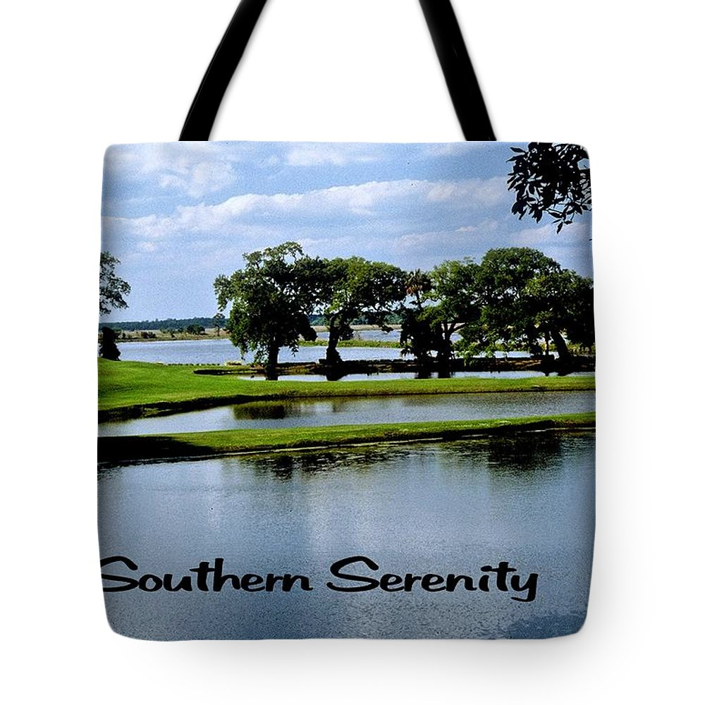 Lake Tote Bag featuring the photograph Southern Serenity by Gary Wonning
