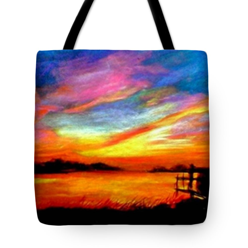Sunset Tote Bag featuring the painting Southern Sunset by Gail Kirtz
