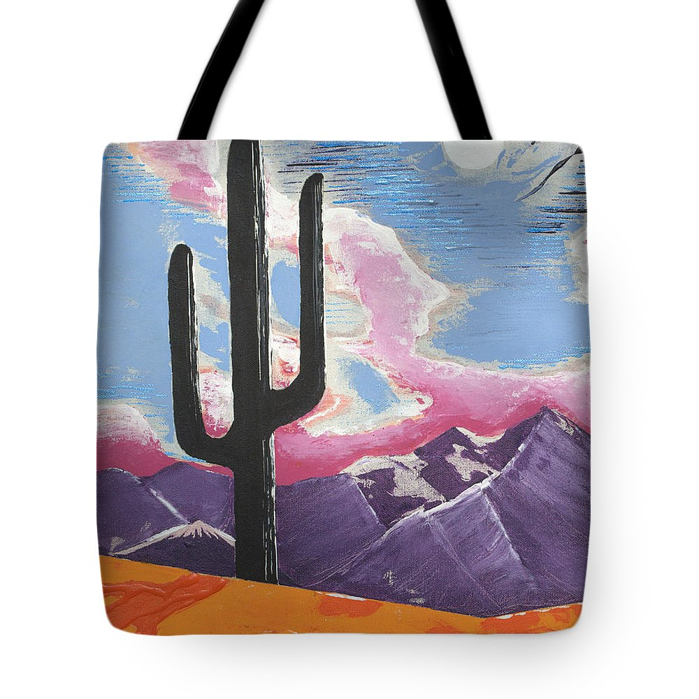Impressionist Painting Tote Bag featuring the painting Southwest Skies 2 by J R Seymour