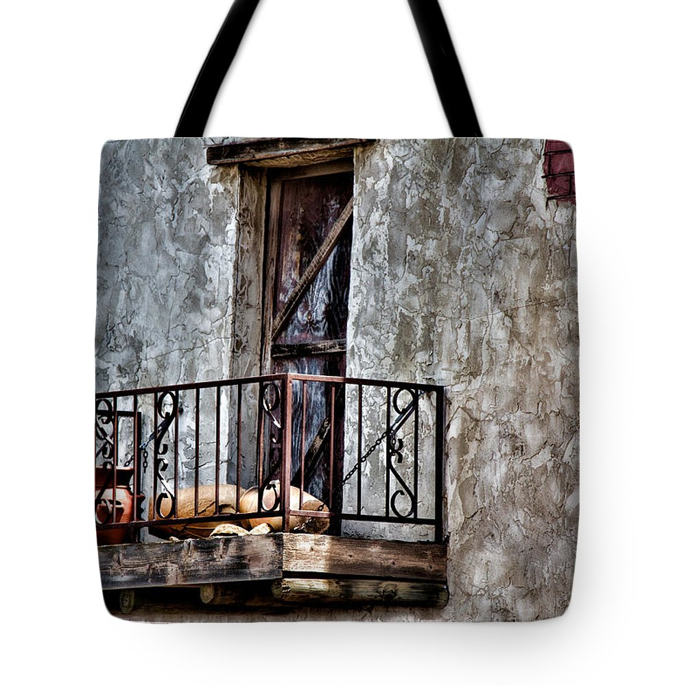 Adobe Tote Bag featuring the photograph Southwest Terrace by Lana Trussell